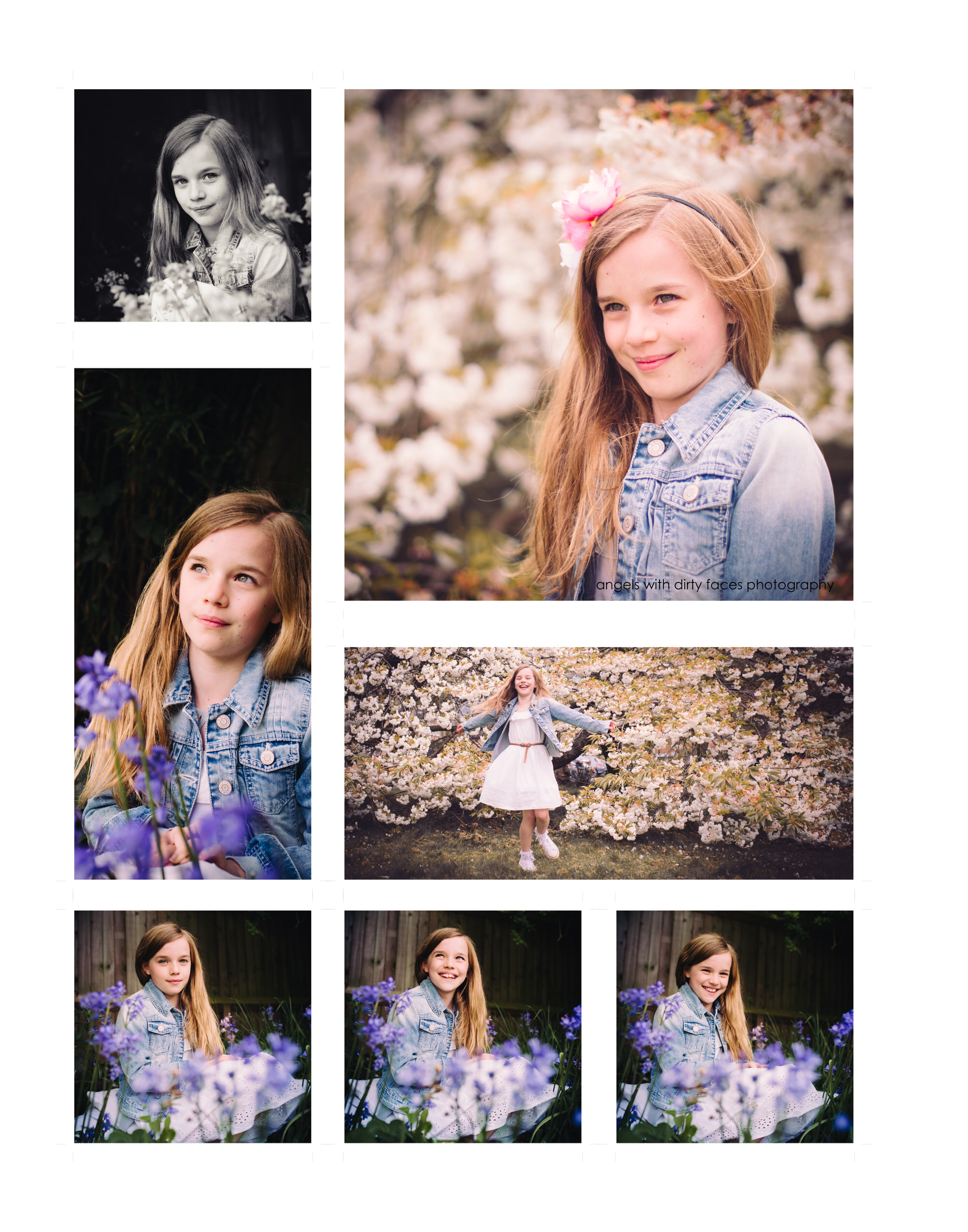Hertfordshire Child Photographer Bluebells and Blossom