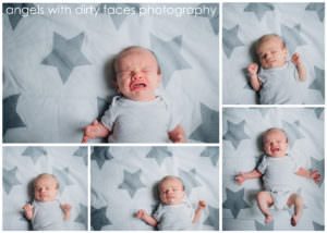 collage of many newborn baby expressions hertfordshire newborn photographer